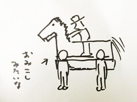 かくし芸大会とか演劇とかでつかわれる馬