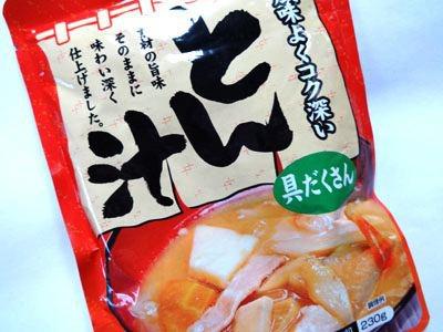 まずは、豚汁を「あんかけ」にしてみようと思います。 豚汁だったら、肉も野菜も入っているし、中華丼と構成要素が似ていますよね。