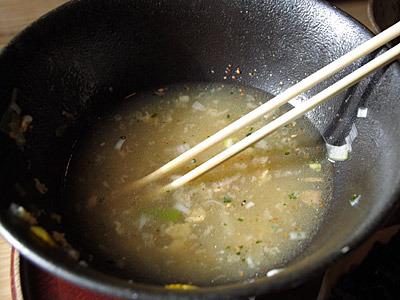 スープがおいしいので、苦しくてもついつい飲んでしまう。