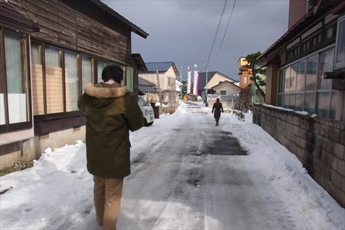 幸い天気はよく、地吹雪は吹いてなかった