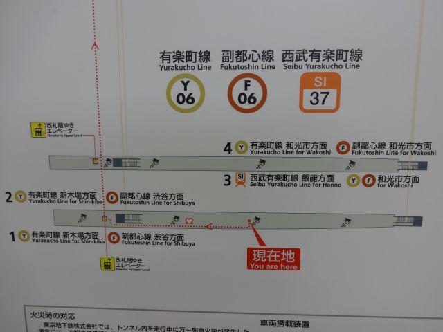 どの番線から電車に乗るかと構内図を見ても、全然解決できないのがいい