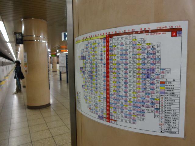 都心に向かう業務用時刻表は紙風船かぼんぼりに見える始末
