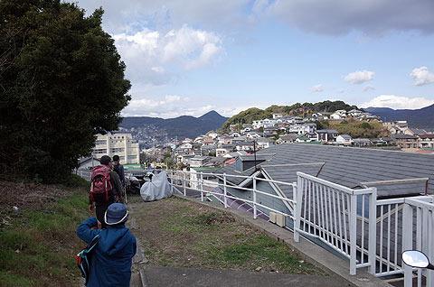 すると英彦山側の住宅地の裏を通り、風頭公園→若宮神社というルートだった。