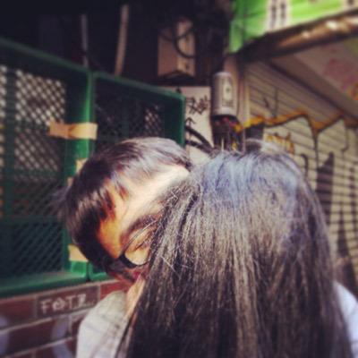 彼女とキス