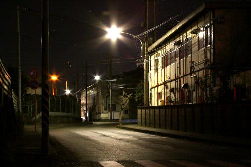 ひと気ない寂寥感に、小さくとも工業地帯なのだと実感させられる