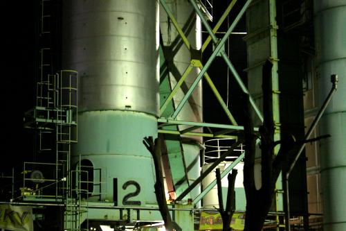 複雑に入り組むはしごや筋違など、まさに鉄の美