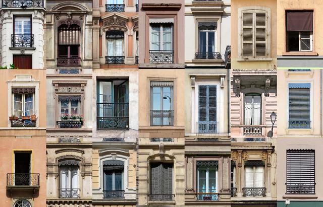 フランスの窓たち。しゃれてんなー。