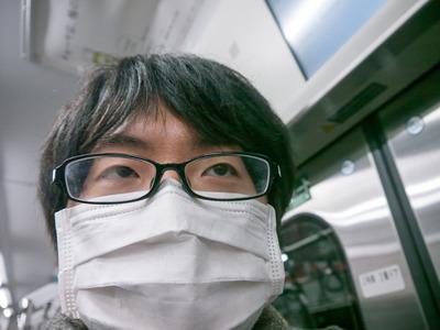 車内ではずっとマスクをしてました。