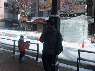 ガードレールの雪払いを楽しむのもまた良し!