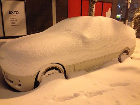 車が埋まるという 関東人にとっては非日常すぎる光景
