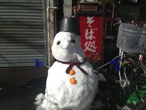 まさに雪だるまの教科書といった佇まい。もちろん合格