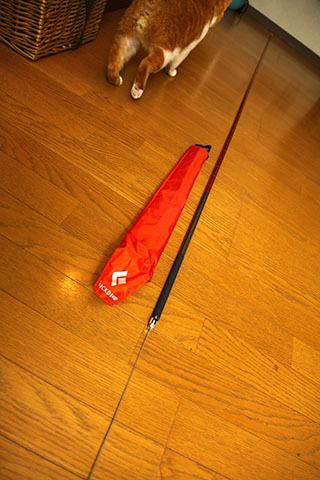 折りたたむと赤い袋に入る。そして軽い。