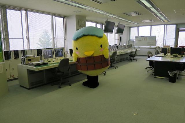 当日、操作室に行くとこれがいた