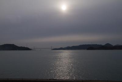 電車から見た瀬戸内海