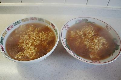 左はスープ先入れ、右はスープ後入れ