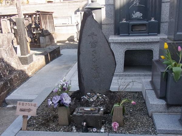 行ってみると「千葉さな子」のお墓だった。坂本龍馬がお世話になった千葉道場の娘であり許嫁だった人だ。ドラマで見たことある