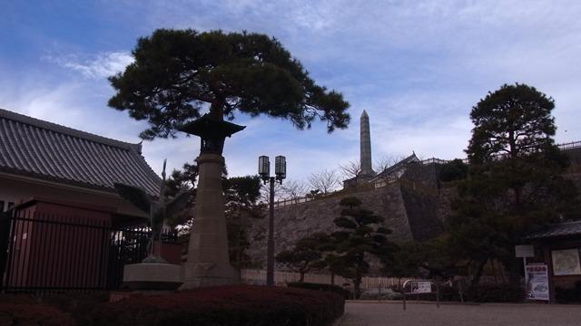 蕎麦屋の大将と、道でたずねた方おすすめの舞鶴城公園