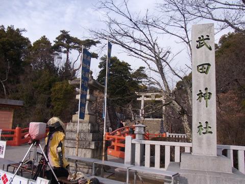 今回の旅で一番多くの観光客がいた武田神社