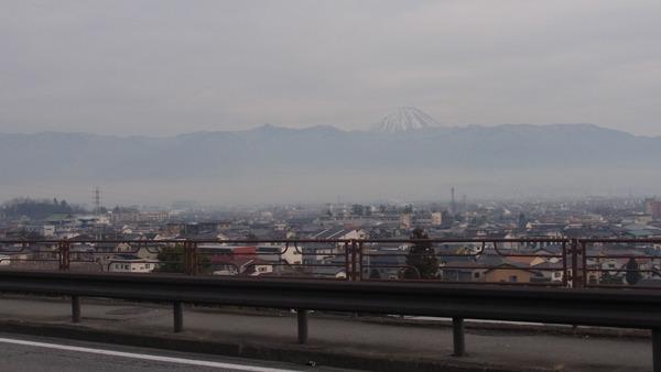 時折見える富士山がいい