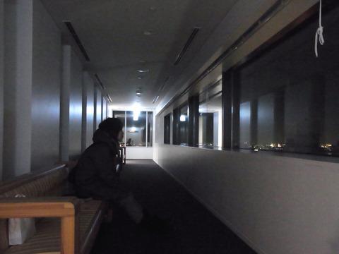 誰もいない…夜景を独り占めだ