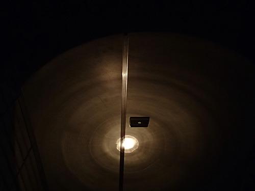 個室の中からの景色(怖かったので鍵はかけていない)。