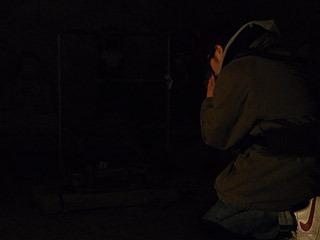 地底マントラは、暗くて何に拝んでいるか分からなかった