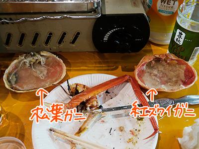飲み比べ! 松葉VS紅ズワイ!
