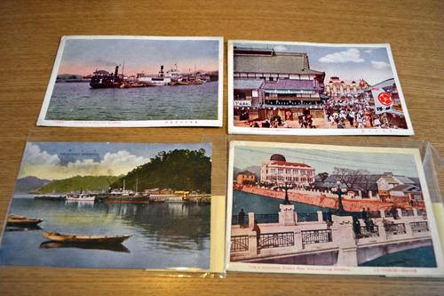 広島の絵葉書。宮島のような観光地ではなく、広島市内の風景だ