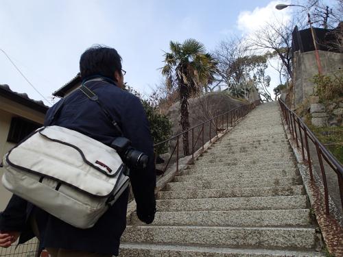 階段……なげえ
