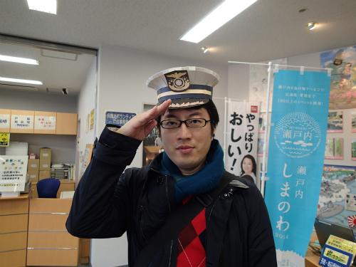 海軍式敬礼のつもり