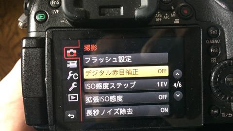 カメラの赤目防止系は全部切る。その逆をいく