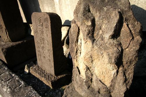 造形が複雑な双体道祖神は加工しやすい柔らかな石材が使われるようで、やはり風化が顕著