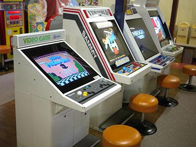 数年前に来た時には、こんな感じでもっといっぱいゲーム機があったんですけどね