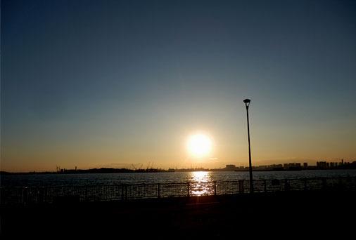 東京湾のサンセット