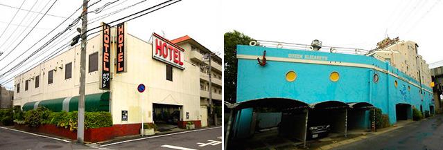 このようなラブホテルがすぐ近くに実際あった(「ラブホテルを鑑賞する</a>」より)。
