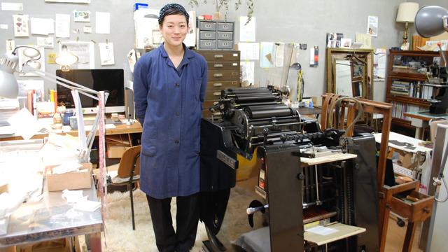 活版印刷機と島村さん