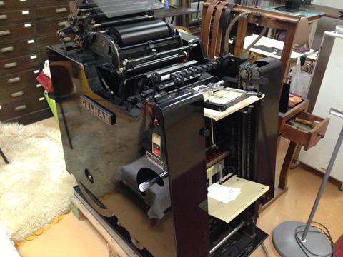 そしてこちらが島村さんの相棒。全自動活版印刷機「デルマックス75」