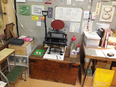 こちらが5年前に購入した手動の活版印刷機