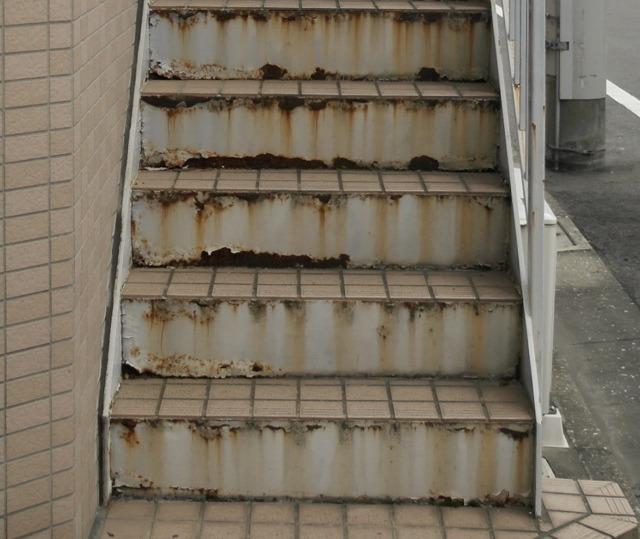 階段の側面に注目
