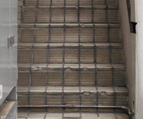 さっきの階段と汚れの印象が違う
