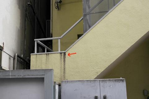 階段の根元に注目