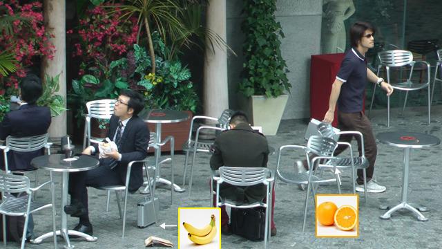 そしてだれにも気付かれずにバナナとオレンジを交換していったスパイ