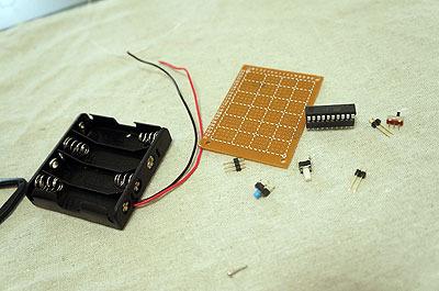あとは電子部品を適当に組み立てます