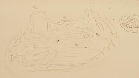代表的な枯山水になるように設計図を書いてきたがはたしてどうなったか……
