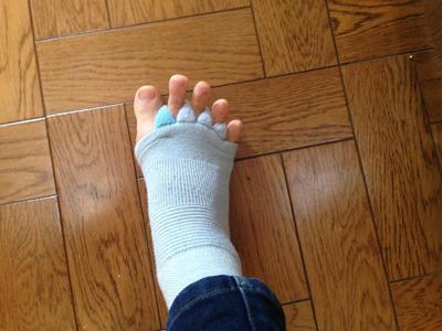 こういったリラックス時にはくための靴下。はいて遊ぶのはもってのほかであった