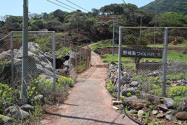 廃村エリアを抜けると、「野崎島ワイルドパーク」の看板が現れる。