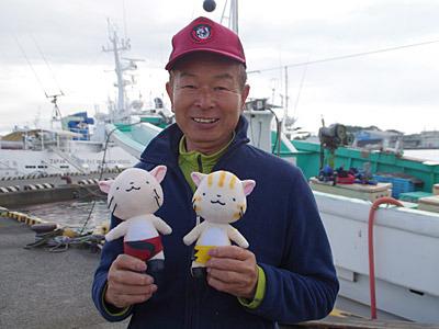 本当に焼津までやってきました。長谷川さんは焼津おさかな大使という肩書きがあるそうです。