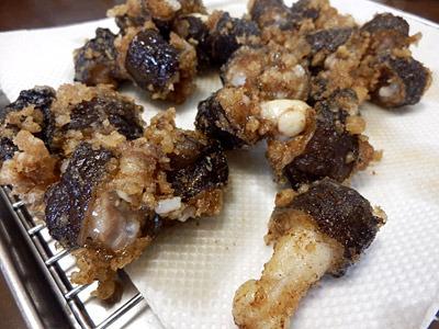 ヌタウナギのから揚げは、骨もなくて最高においしい。もっと評価されていい食材だと思う。
