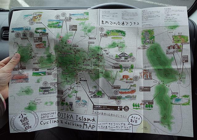 島内のマップ。