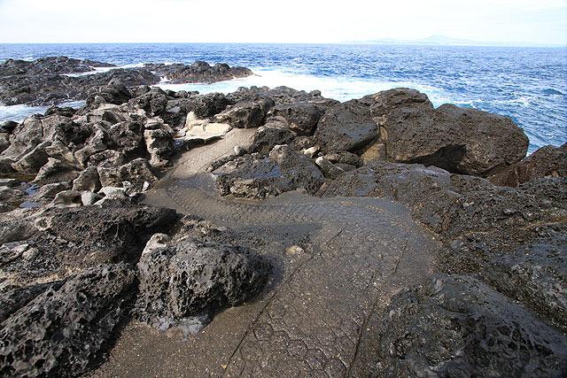 道が濡れていて「ひょっとして大波が来たらこんな風に自分も水かぶるんかな?」と予感。